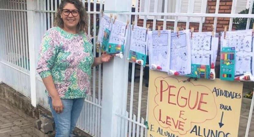 4 capa Percebendo a dificuldade dos alunos em aulas online professora brasileira cria varal de atividades