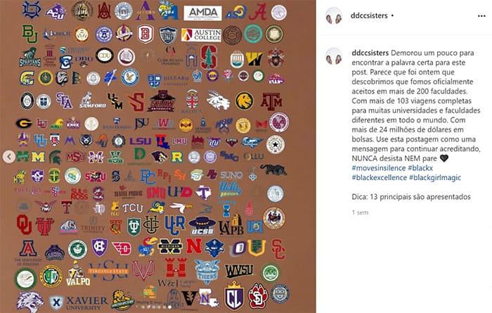 5 3 Gemeas recebem 130 milhoes em bolsas de estudos e mais de 200 propostas de faculdades Dedicadas