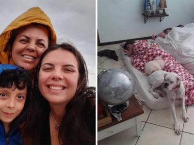 6 capa Alunas acampam mais de um mes na casa de professora que perdeu o filho tragicamente para apoia la