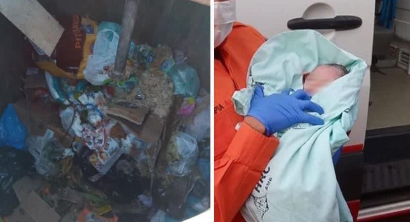 capabombeiro heroi salva vida de recem nascido abandonado em conteiner de