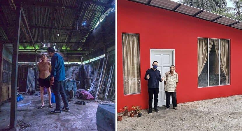 capaem 9 dias homem reforma casa de idoso carente que vivia sem agua e energia