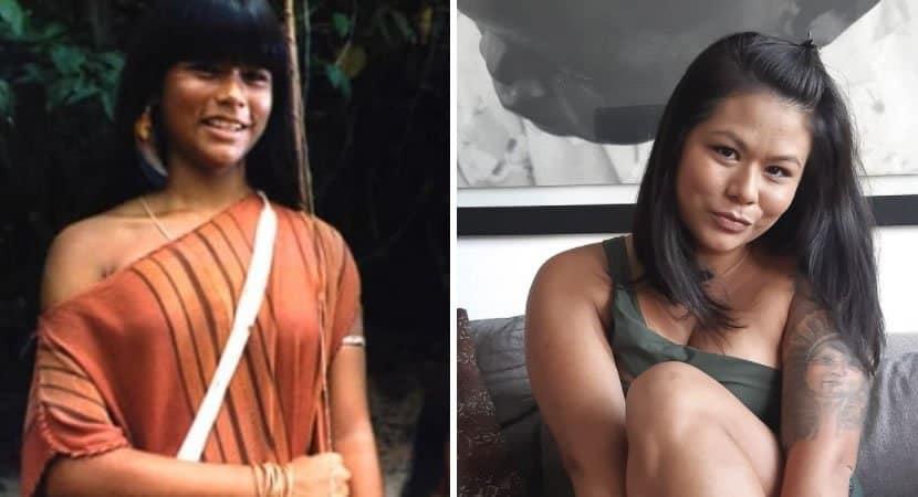 capaeunice Baia que interpretou a india Taina esta com 30 anos e gravida de 2o filho