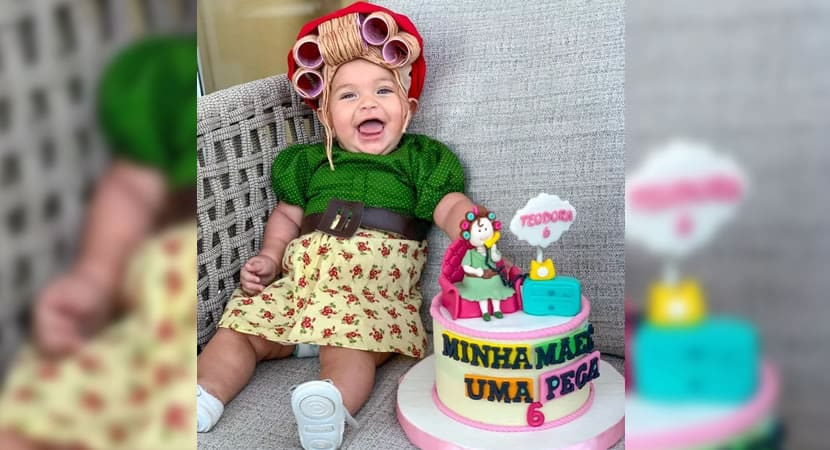 capamae veste bebe de Dona Herminia em mesversario para homenagear Paulo Gustavo e viraliza