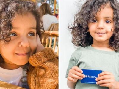 capamenina de 2 anos com QI de 146 se torna a pessoa mais nova a ser aceita em sociedade de genios
