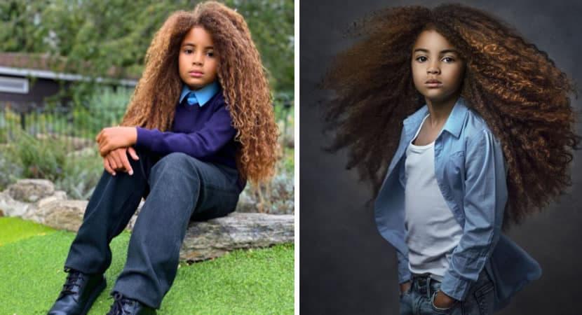 capamenino de 8 anos e rejeitado por escolas por ter cabelo comprido