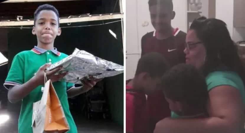 capamenino tenta comprar presente para a mae com R12 comove a internet e recebe chuva de doacoes