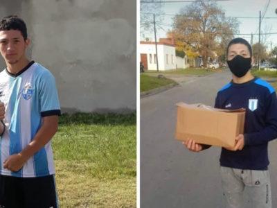 1 capa Jovem que vendia pao para ajudar a familia ganha bolsa e pode realizar o sonho de jogar futebol