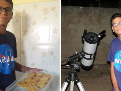 6 capa Jovem que vendia empadas para comprar telescopio arrecada mais de R15 mil e vai pagar curso na NASA