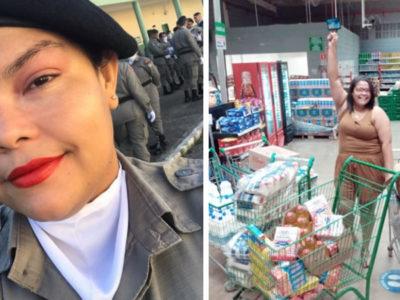 capacom primeiro salario policial compra cestas basicas e remedios a pessoas necessitadas