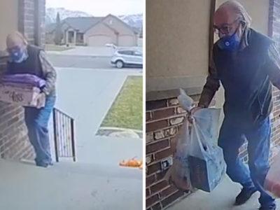 capadesconhecidos fazem doacoes a idoso que fazia entregas para custear reforma em sua casa
