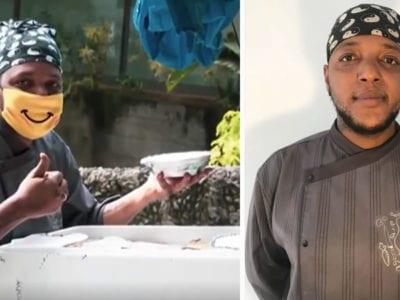 1 capa Ex morador de rua abre restaurante com dinheiro que ganhou como entregador Hoje ele alimenta sem teto