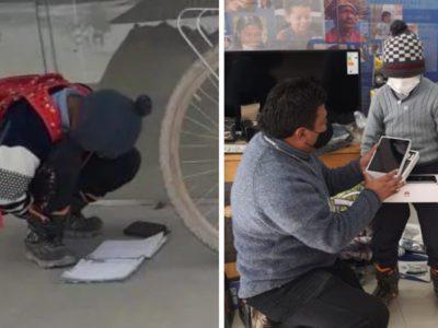3 capa Flagrado estudando no chao da rua menino recebe ajuda de policiais e ganha internet e tablet