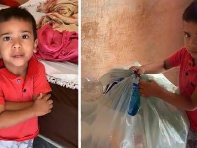 5 capa Passando fome e trabalhando como catador menino de 4 anos recebe mais de R100 mil em doacoes