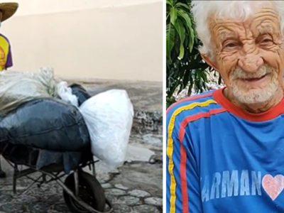 6 capa Carroceiro de 106 anos em condicoes de pobreza recebe R77 mil em doacoes de desconhecidos