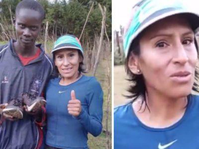 capacorredora medalhista doa par de tenis novos a queniano humilde que sonha em ser esportista