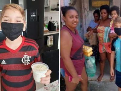capacrianca de 11 anos faz e vende pave para ajudar familias necessitadas na pandemia
