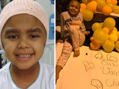 capaeu venci o cancer menina de 5 anos supera grande tumor no cerebro e e so alegria