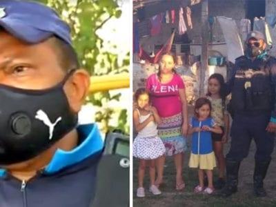 capapolicial resgata familia com 5 criancas que vivia na miseria em matagal e lhes oferece emprego e abrigo