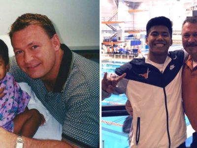 3 capa Menino desnutrido e doente que foi adotado por pai solteiro vira mergulhador olimpico