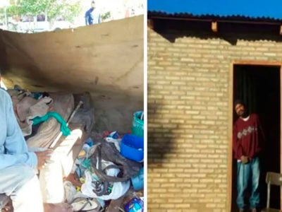 3 capa Vizinho doa parte de seu terreno e constroi casa em um mes para morador de rua