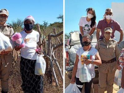 6 capa Policiais Militares acolhem e doam comida para 70 familias carentes na Bahia