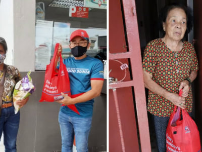 capagerente de posto de gasolina e distribui comida e itens essenciais para desempregados na pandemia