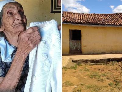 capaweb arrecada mais de R75 mil para ajudar idosa de 82 anos que vive em casa a base de argila