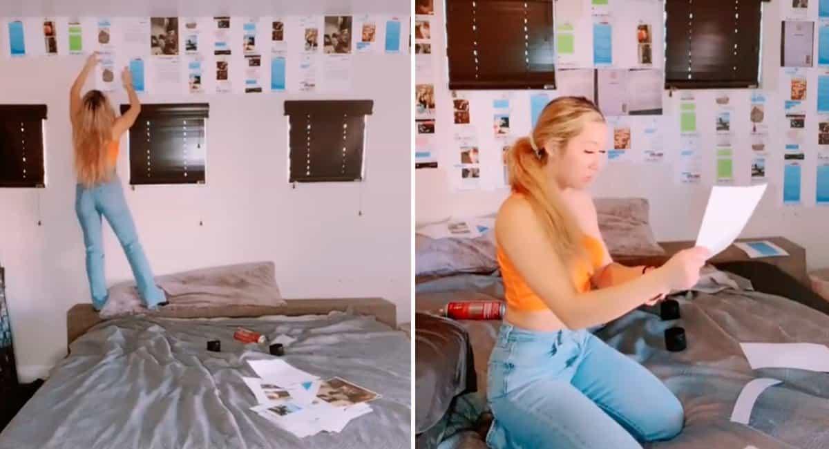 2 capa Mulher cola todas as mensagens de traicao do namorado na parede de seu quarto e recebe apoio da web