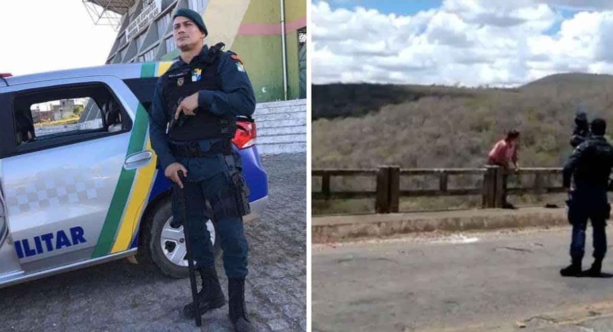 4 Capa Policial Militar intervem na hora certa e salva mulher de se jogar da ponte