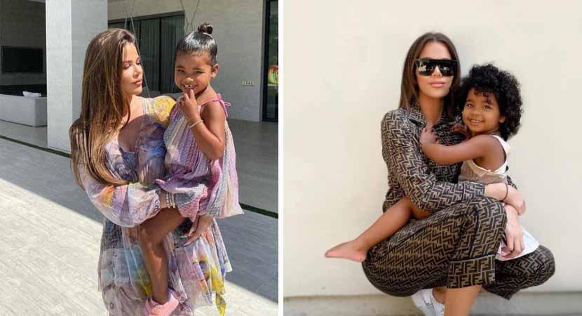 1 Capa Khloe Kardashian e criticada pelos fas por sempre carregar a filha de 3 anos no colo