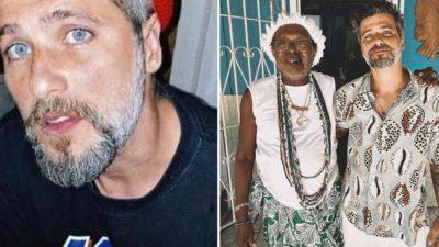 1 capa Bruno Gagliasso publica foto ao lado de pai de santo e internautas praticam intolerancia religiosa