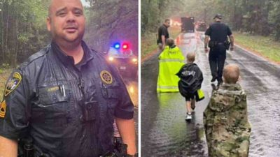 3 capa Policial consegue 3 criancas perdidas em floresta apos promete las hamburgueres como recompensa