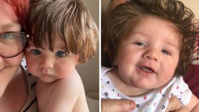 capa bebe 'cabeludo de 9 meses e confundido com boneco e faz sucesso nas redes