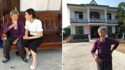 capamulher adotou bebe abandonada perto de sua casa Apos 20 anos ela lhe retribuiu com uma casa