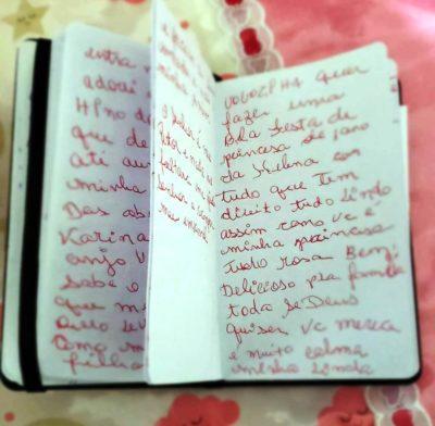 escrita do diario